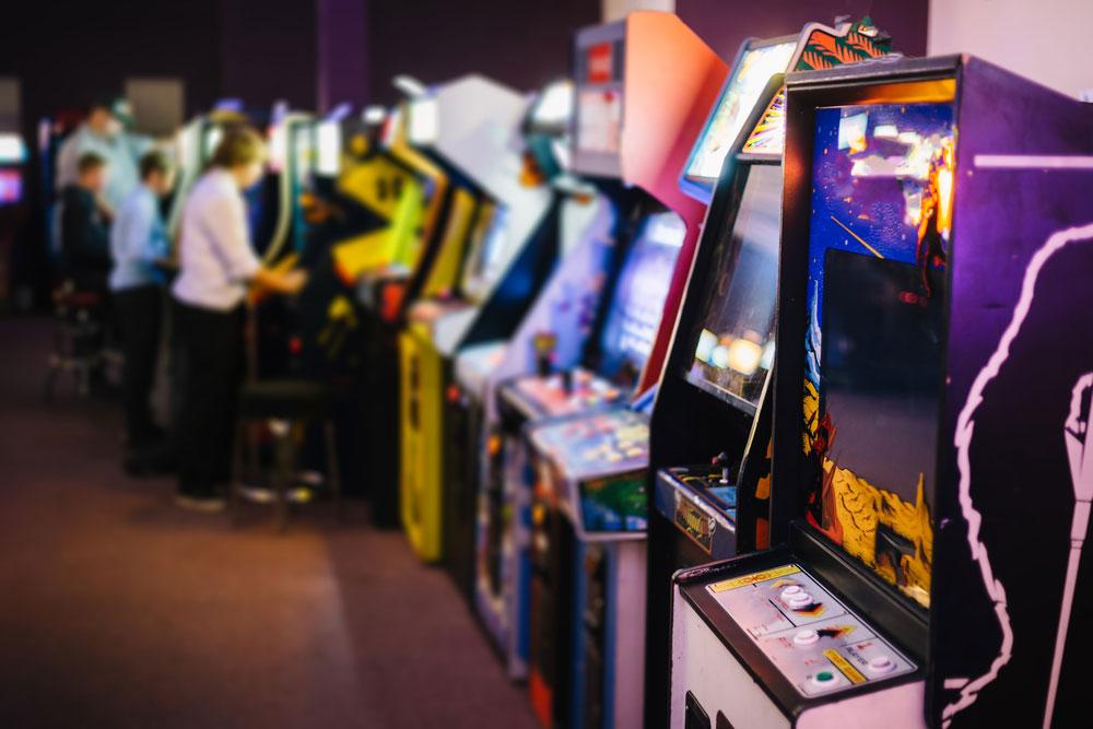 Line of arcade games