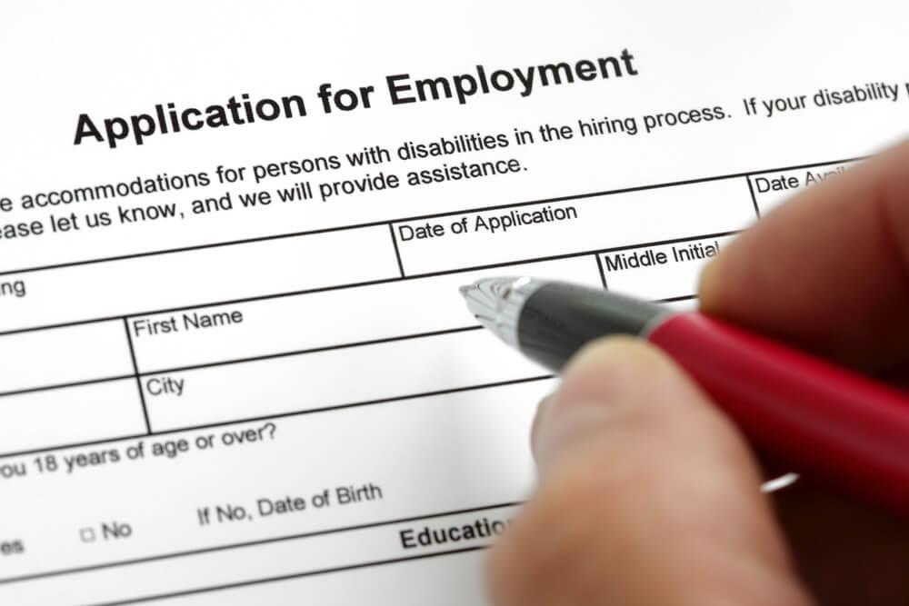 Job application paperwork.