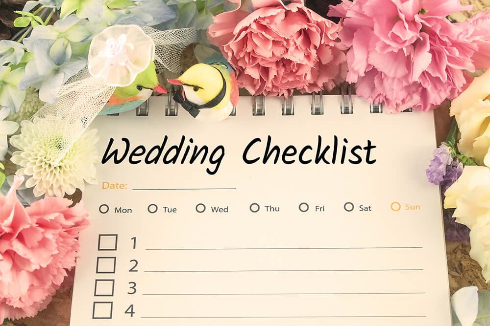 Wedding checklist before