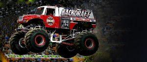 Backdraft monster truck airborne
