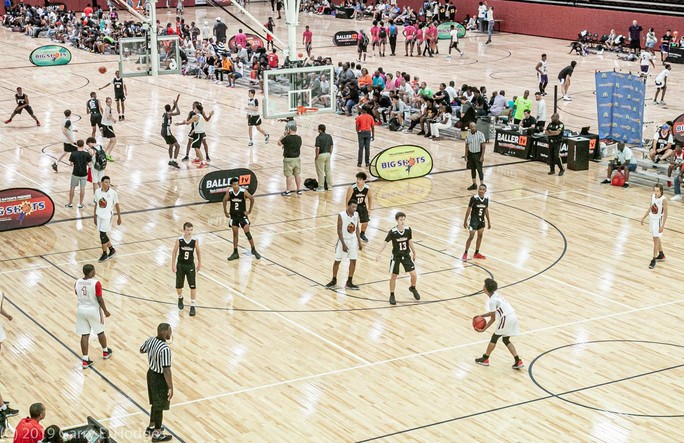 Travel basketball tournament at Rocky Mount Event Center