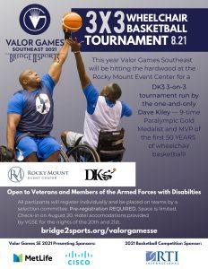 Wheelchair Basketball tournament flyer